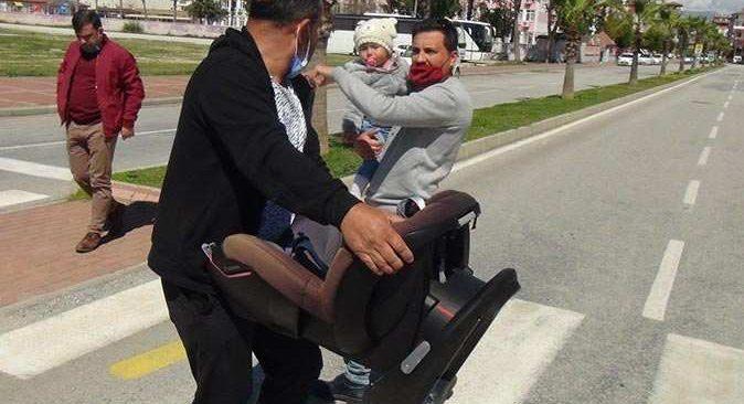 Feci kazada bebek koltuğu Deniz bebeği hayatta tuttu