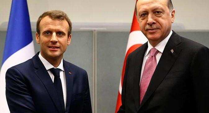 Cumhurbaşkanı Erdoğan ve Fransa Cumhurbaşkanı Macron arasında kritik görüşme