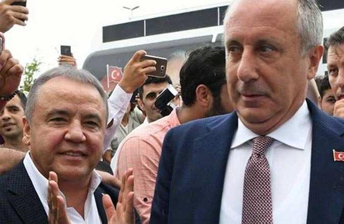 Antalya Büyükşehir Belediye Başkanı Muhittin Böcek Muharrem İnce'nin partisine geçiyor iddiası