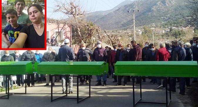 Fethiye-Antalya yolundaki feci kazada hayatını kaybeden Alaca ailesine son veda