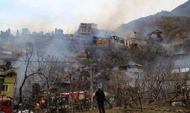 Dereiçi köyünde yangın! Acı tablo gün ağarınca ortaya çıktı