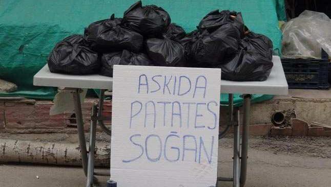 Bu da askıda 'patates, soğan' kampanyası