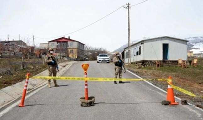 Vakaların arttığı bir köy daha karantina altına alındı