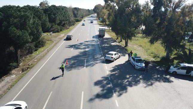 Sürücülere havadan ceza yağdı
