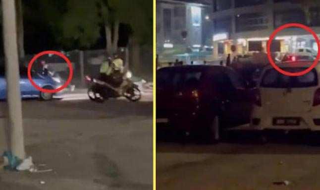 Arabada cinsel ilişkiye girerken basılan çift, polise ecel teri döktürdü