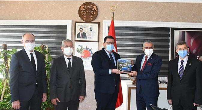AESOB Başkanı Adlıhan Dere'den Başkan Topaloğlu'na ziyaret