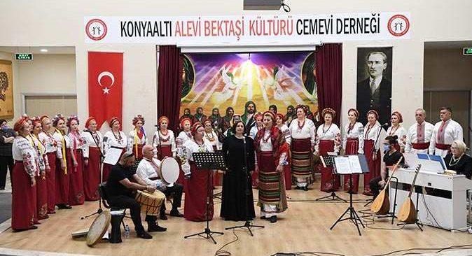 Konyaaltı Cemevi'nde 'kültür mozaiği' konseri