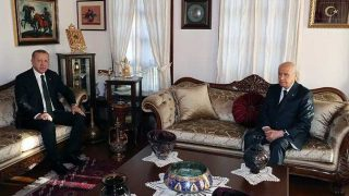 Cumhurbaşkanı Erdoğan'dan MHP Genel Başkanı Bahçeli'ye sürpriz ziyaret