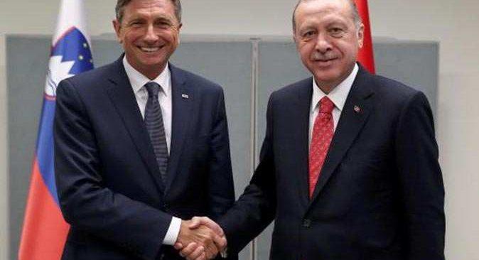 Cumhurbaşkanı Erdoğan, Slovenya Cumhurbaşkanı Pahor ile telefonda görüştü