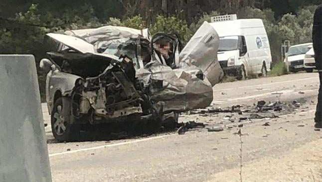 Fethiye-Antalya yolunda feci kaza