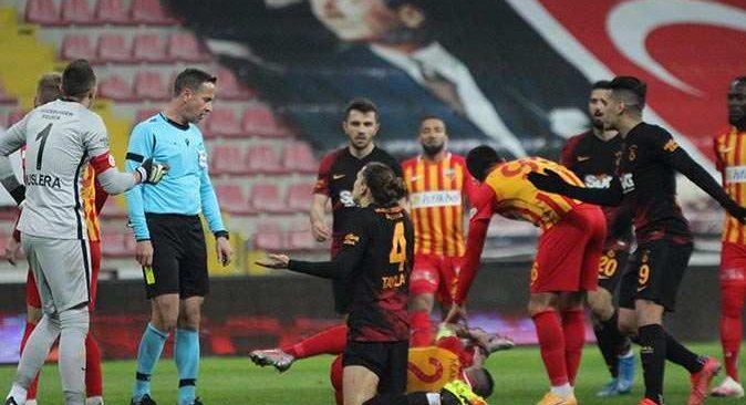 Galatasaray Kayseri'den 3 puanla dönüyor