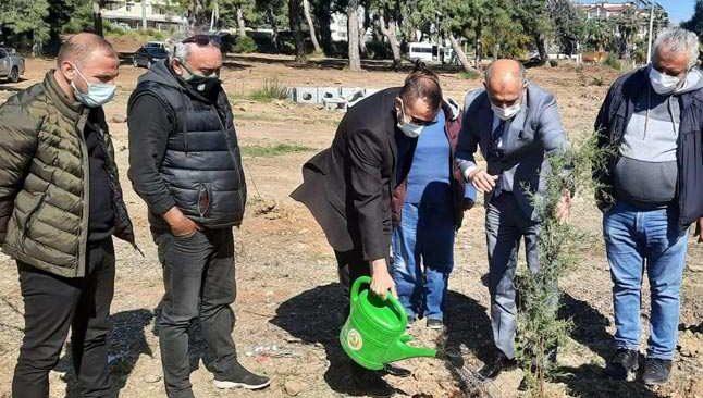 Antalyalı gazeteciler 250 adet fidanı toprakla buluşturdu