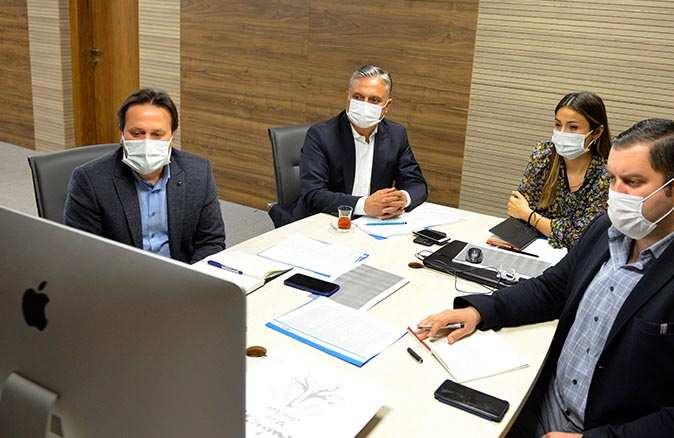 Başkan Ümit Uysal, çalıştaya online bağlandı