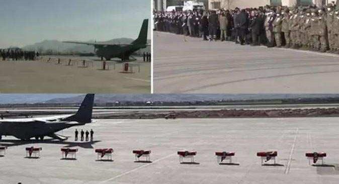 Bitlis'te düşen helikopterde şehit olan 11 askere acı veda