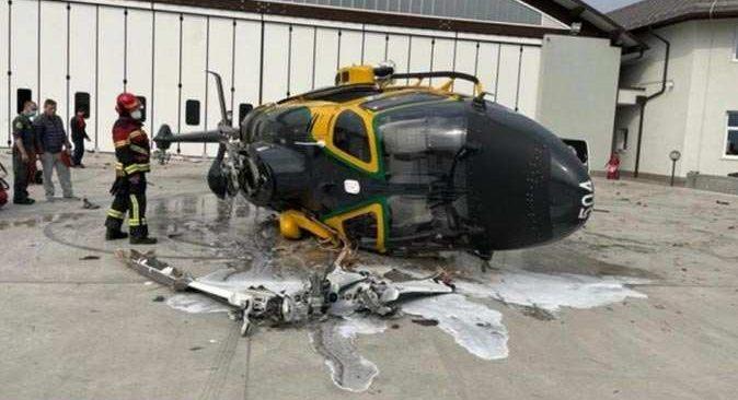 İtalya'da helikopter kazası! O anlar saniye saniye kaydedildi