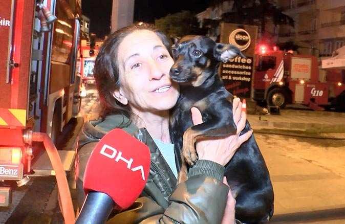 Kahraman köpek Esmoş sahibini ölümden kurtardı