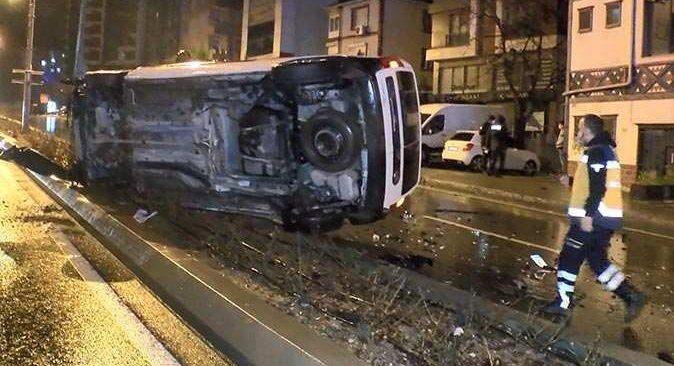 İstanbul'da babasından izinsiz otomobilin anahtarını aldı, kaza yapınca yakalandı