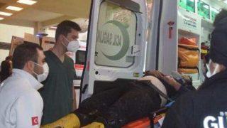 Gazipaşa'da feci kaza! Motosikletli yaralandı
