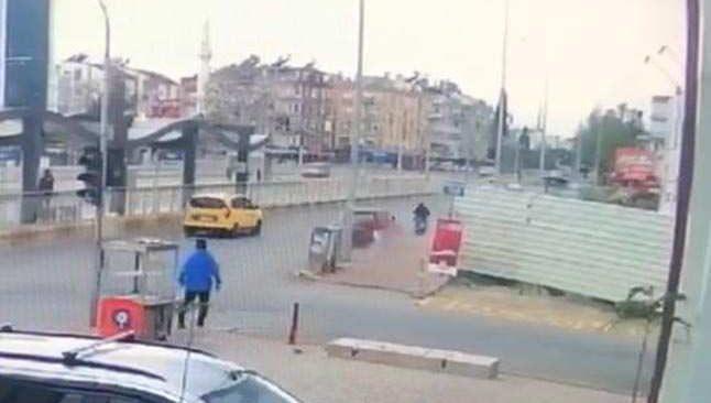 Antalya'da katliam gibi kaza kameralara yansıdı