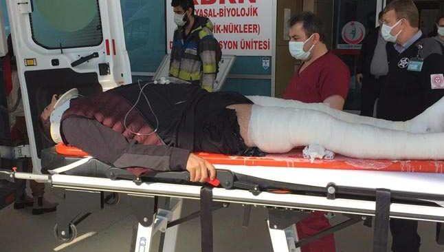 Korkunç kaza! Yüzlerce metreden yere çakıldı