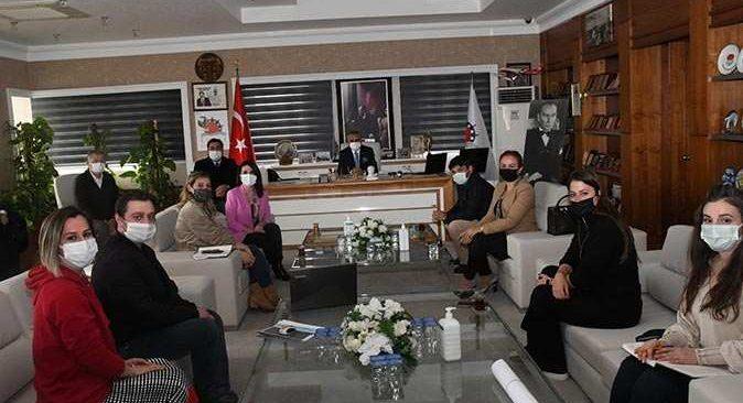 ABB Park ve Bahçeler Daire Başkanı Hacıoğlu'ndan Başkan Topaloğlu'na ziyaret