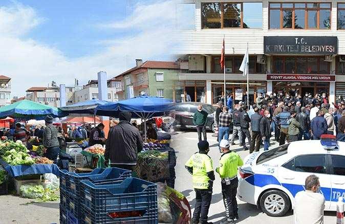 Korkuteli'de yıkım gerginliği! Belediyenin önünde toplandılar