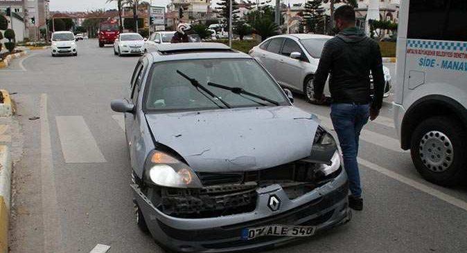 Işık ihlali sonucu kaza kaçınılmaz oldu!