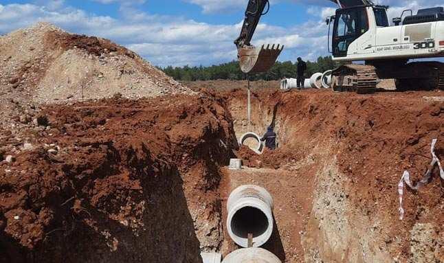 Antalya Kurşunlu Mezarlığı'nda alt yapı çalışması