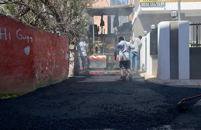 Yüksekalan'da 8 bin 12 metre uzunluğundaki 46 sokak asfaltla kaplandı