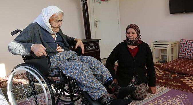102 yaşındaki Fatma Nine'nin büyük mutluluğu