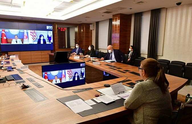Ticaret Bakanı Ruhsar Pekcan, ABD Ticaret Temsilcisi Katherine Tai ile görüştü