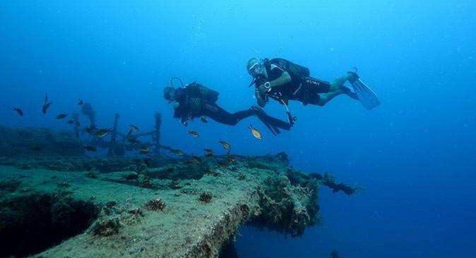 Antalya'da suyun altında yatan tarih dalış tutkunlarını bekliyor