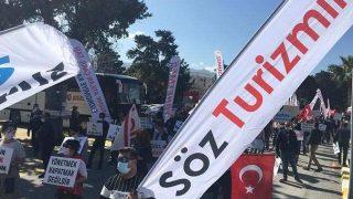 KKTC'de turizm emekçileri eylem yaptı