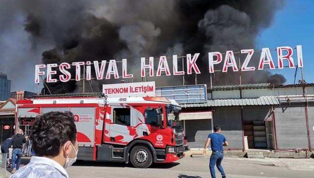 Son dakika! Festival Çarşısı'nda korkutan yangın...