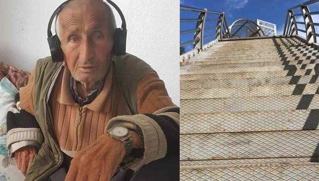 Merdivenlerden düşen yaşlı adam kurtarılamadı