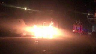 Antalya'da yat yangını