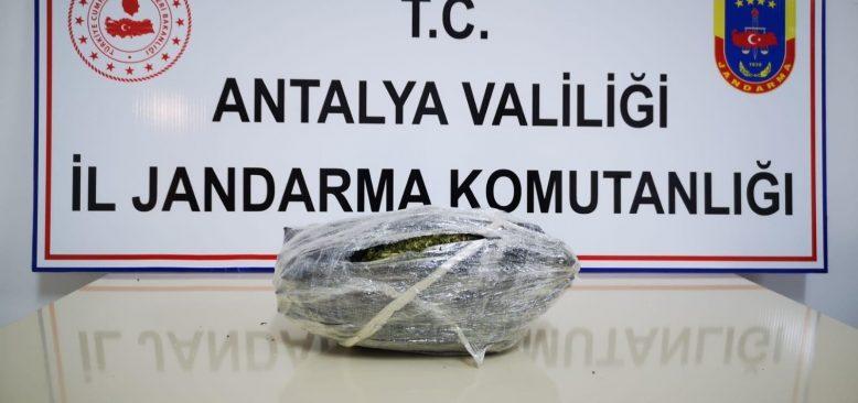 Antalya'da otobüsle uyuşturucu ticareti