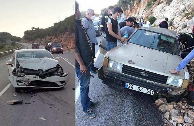 Demre'deki kazada 2 kişi yaralandı