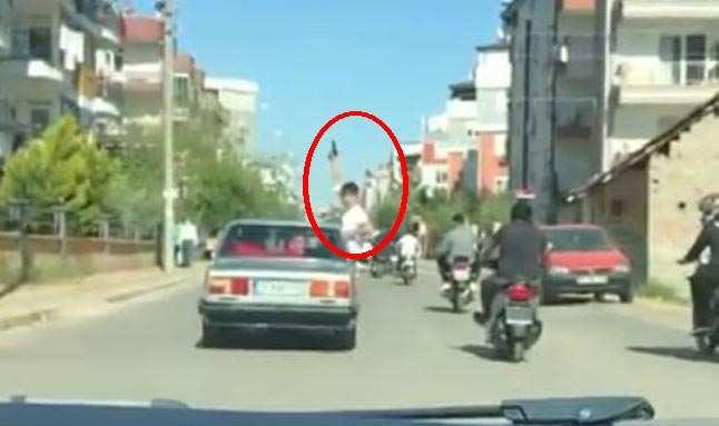 Antalya'da korku dolu anlar...