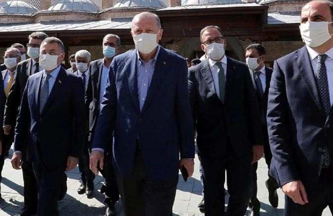 Cuma namazı sonrası Cumhurbaşkanı Erdoğan'dan koronavirüs uyarısı