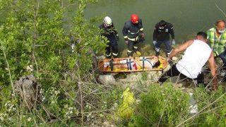 Dereye uçan Rus turist ölümden döndü