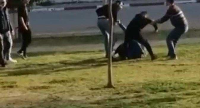 Antalya'da parkta öldüresiye dayak!