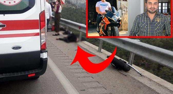 Antalya'da motosiklet kazası 2 can aldı!