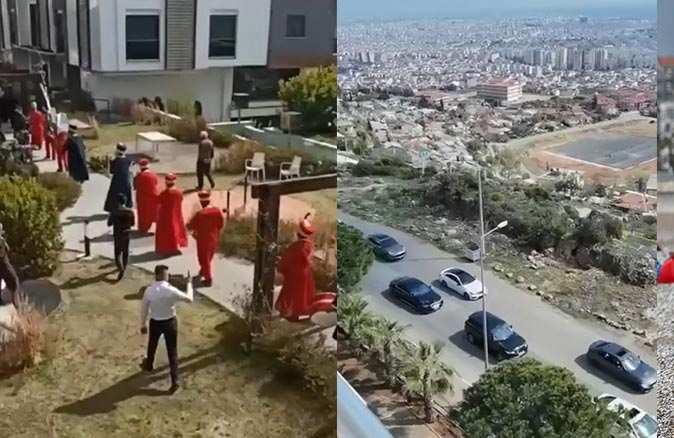 Antalya'da tepki çeken olay! Kısıtlamada mehter marşı eşliğinde kız istediler