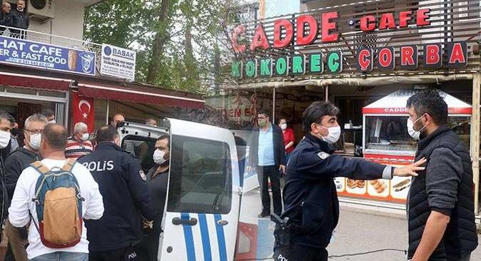 Trafik kazası sonrası çıkan kavgayı polis güçlükle ayırdı