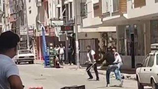 Antalya'da bavullu, kaldırım taşlı, sopalı kavga