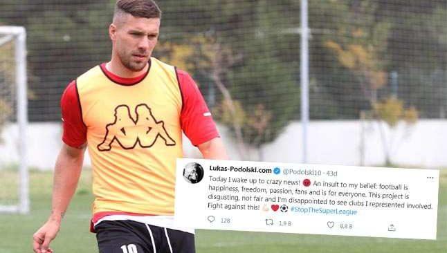 Lukas Podolski'den Avrupa Süper Ligi'ne tepki