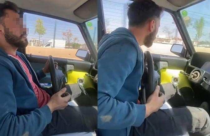 Otomobilin direksiyonunu çıkartıp sürücülerin canını hiçe saydı