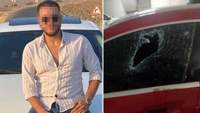 Antalya'da öfkelenen genç Rus kadının aracını hurdaya çevirdi!