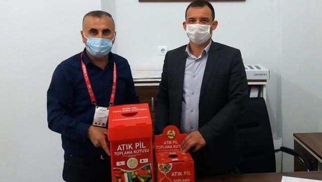 Antalya'da atık pil toplama kampanyası devam ediyor
